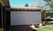 A20 Diagonal Lattice Screen aluminium Primrose