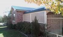 A50 diagonal verandah Lattice Classic Cream