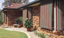 Awnings automatic stripe canvas