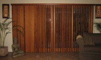 Cedar Vertical 90mm, shaped pelmet. Lindsay