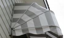 Dutch hood awning side view. Dickson acrylic RC8907