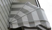Dutch hood awning side view. Dickson acrylic RC8907