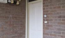Forceshield roller shutter headbox above door & guides.