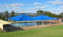Hipped Shade structure, Architec400 Aquamarine