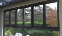 Infinity Freedom retractable Screen Double. Ironstone frame & tracks