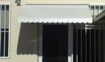 Metal awning & door