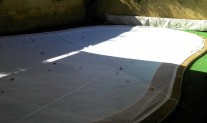 Pool cover White shaped.