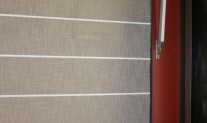 Roman Tuscany Ash translucent, White front battens and base bar, chain control.