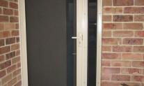 Screenguard hinged door & side panel, Stone Beige, stainless mesh, 3 point lock