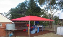 Shade structure, Rainbow Shade Z16 Sunset Red, preschool