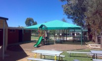 Shade structure Rainbow Z16 BlueGreen stripe
