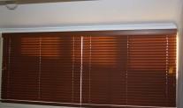 Timberstyle PVC venetian, Med. Cedar, 1 pelmet, 2 blinds, 50mm