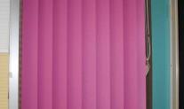 Vertical drape 100mm Mini Dawn Bubblegum, White Slimline track, chainless weights