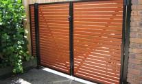 double gates Slatted aluminium
