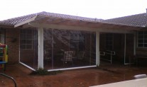 rope operated, side zippers PVC Clear awning